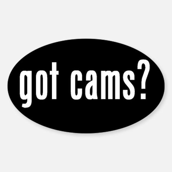 got cams? Oval Sticker #2
