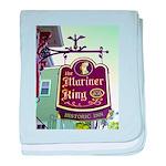 The Mariner King Inn sign baby blanket