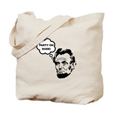Lincoln Party On Tote Bag