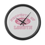 Property of Londyn Large Wall Clock