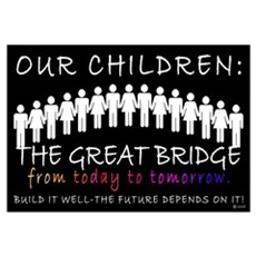 OUR CHILDREN: THE BRIDGE Canvas Art