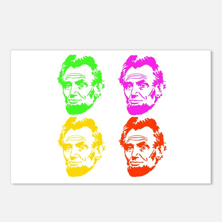 Lincoln Warhol Postcards (Package of 8)