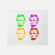 Lincoln Warhol Throw Blanket