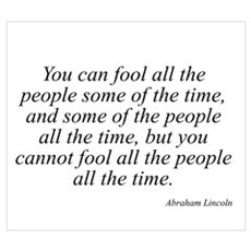 Abraham Lincoln quote 127 Poster