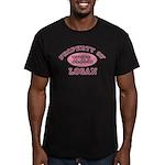 Property of Logan Men's Fitted T-Shirt (dark)