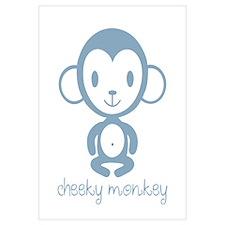 Cute Monkey boy Wall Art