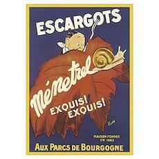 Escargot Poster