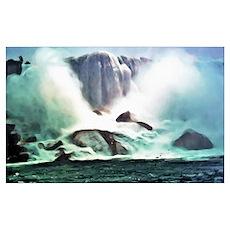 Niagara Falls Painting Poster