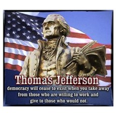 Thomas Jefferson quotes Framed Print