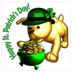 St. Patrick's Puppy Poster