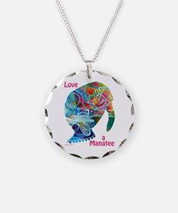 Manatees of Many Colors Necklace