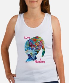 Manatees in Many Colors Women's Tank Top