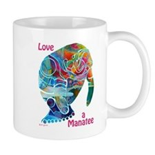 Manatees in Many Colors Small Mug
