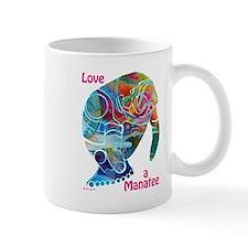 Manatees in Many Colors Small Mug