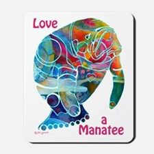 Manatees in Many Colors Mousepad