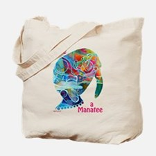 Manatees in Many Colors Tote Bag