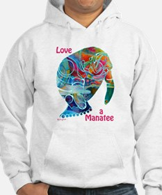 Manatees in Many Colors Hoodie