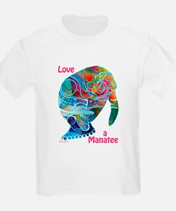 Manatees in Many Colors T-Shirt