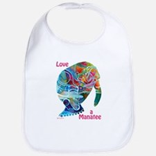 Manatees in Many Colors Bib