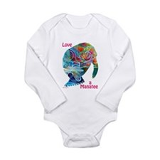 Manatees in Many Colors Long Sleeve Infant Bodysui