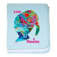Manatees in Many Colors baby blanket