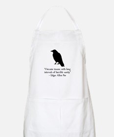 Edgar Allen Poe Quote Apron