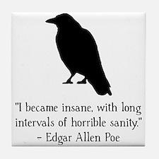 Edgar Allen Poe Quote Tile Coaster