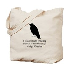 Edgar Allen Poe Quote Tote Bag