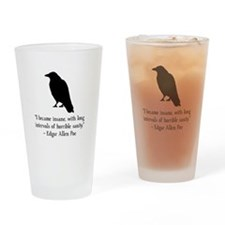 Edgar Allen Poe Quote Drinking Glass