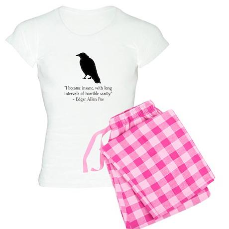 Edgar Allen Poe Quote Women's Light Pajamas