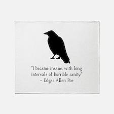 Edgar Allen Poe Quote Throw Blanket