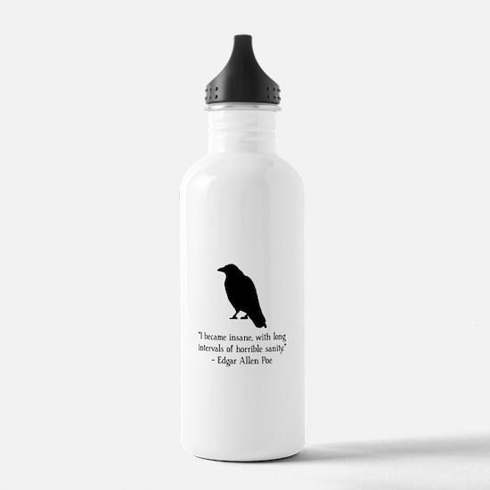 Edgar Allen Poe Quote Water Bottle