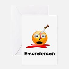 Emurdercon Greeting Card