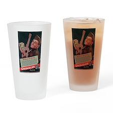 Ukuleles Satisfy! Drinking Glass