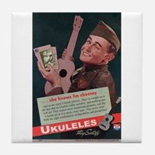 Ukuleles Satisfy! Tile Coaster