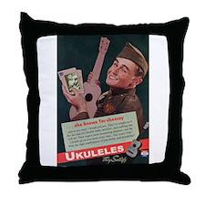 Ukuleles Satisfy! Throw Pillow