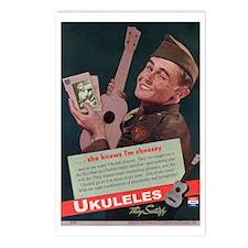 Ukuleles Satisfy! Postcards (Package of 8)
