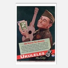 Ukuleles Satisfy! Postcards (Package of 8)