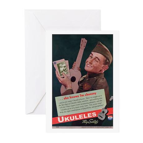 Ukuleles Satisfy! Greeting Cards (Pk of 10)