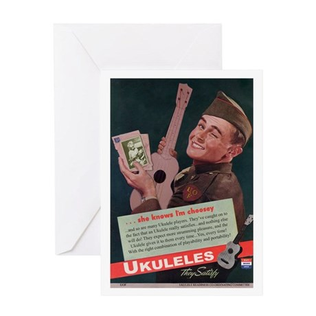 Ukuleles Satisfy! Greeting Card