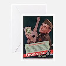 Ukuleles Satisfy! Greeting Cards (Pk of 20)