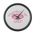 Property of Lily Large Wall Clock