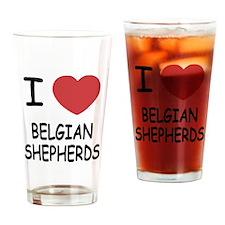 I heart belgian shepherds Drinking Glass