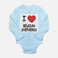 I heart belgian shepherds Long Sleeve Infant Bodys