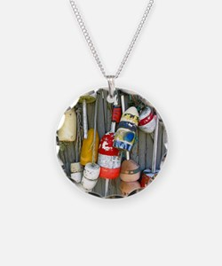 Lobster Trap Buoys (1) Necklace