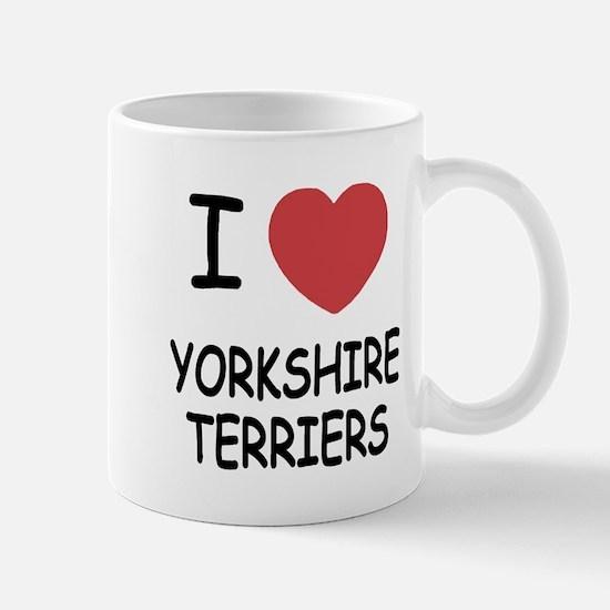 I heart yorkshire terriers Mug