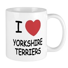 I heart yorkshire terriers Small Small Mug