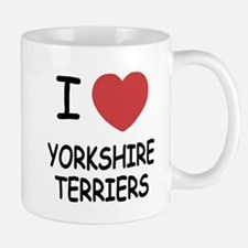 I heart yorkshire terriers Small Small Mug