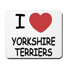 I heart yorkshire terriers Mousepad