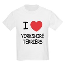 I heart yorkshire terriers T-Shirt